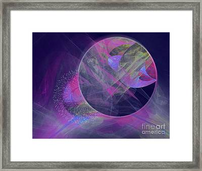 Framed Print featuring the digital art Collision by Victoria Harrington