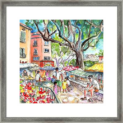 Collioure Market 02 Framed Print by Miki De Goodaboom