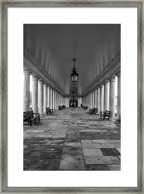 Columns Queens House Greenwich Framed Print by Claire  Doherty