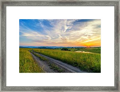 Colmar Summer Sunset Framed Print by Anthony Heflin