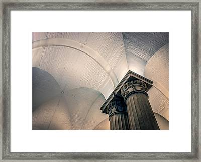 Framed Print featuring the photograph Columns by Rob Sellers