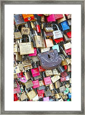 Cologne - Hohenzollern Bridge - Gypsy Locks Framed Print by Gregory Dyer