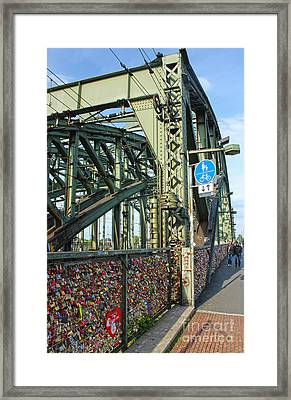 Cologne - Hohenzollern Bridge Framed Print by Gregory Dyer