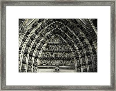 Cologne Cathedral Arch Framed Print by Teresa Mucha