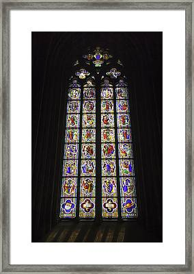 Cologne Cathedral Stained Glass Life Of Christ Framed Print