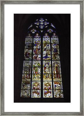 Cologne Cathedral Stained Glass Window Of The Nativity Framed Print