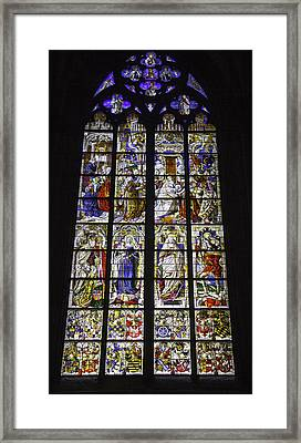 Cologne Cathedral Stained Glass Window Of The Three Holy Kings Framed Print