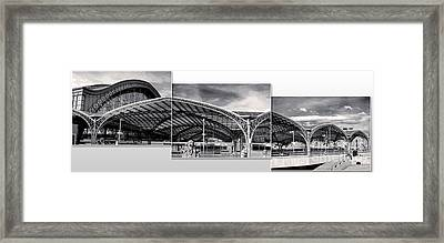 Cologne Central Train Station - Koln Hauptbahnhof - 02- Bw Framed Print by Gregory Dyer
