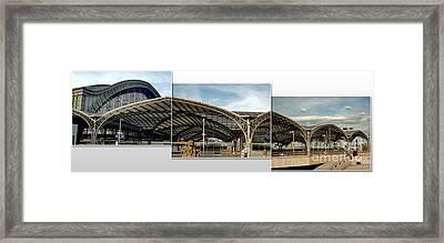 Cologne Central Train Station - Koln Hauptbahnhof - 02 Framed Print by Gregory Dyer
