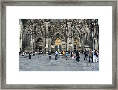 Cologne Germany - High Cathedral Of St. Peter - 17 Framed Print by Gregory Dyer