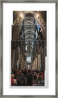 Cologne Germany - High Cathedral Of St. Peter - 01 Framed Print by Gregory Dyer