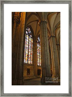 Cologne Germany - High Cathedral Of St. Peter - 02 Framed Print by Gregory Dyer