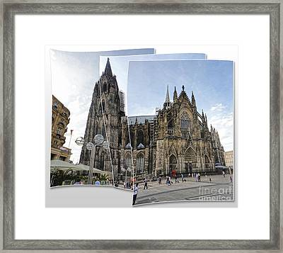 Cologne Germany - High Cathedral Of St. Peter - 03 Framed Print by Gregory Dyer