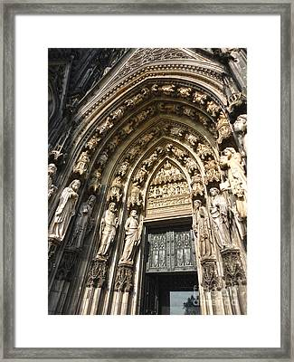 Cologne Germany - High Cathedral Of St. Peter - 05 Framed Print by Gregory Dyer