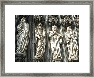 Cologne Germany - High Cathedral Of St. Peter - 06 Framed Print by Gregory Dyer
