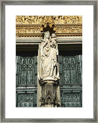 Cologne Germany - High Cathedral Of St. Peter - 07 Framed Print by Gregory Dyer