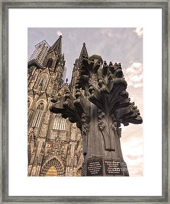 Cologne Germany - High Cathedral Of St. Peter - 08 Framed Print by Gregory Dyer