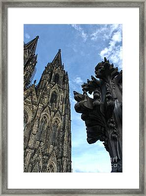 Cologne Germany - High Cathedral Of St. Peter - 13 Framed Print by Gregory Dyer