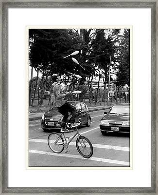 Colombian Example Of Tenacity Framed Print by Daniel Gomez