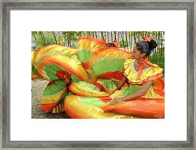 Colombian Folk Dancer Framed Print by Kike Calvo