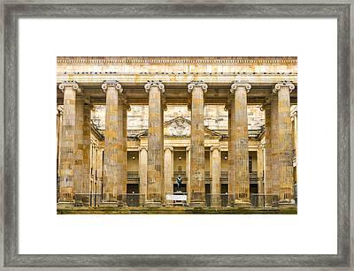 Colombian Senate Facade Framed Print by Jess Kraft