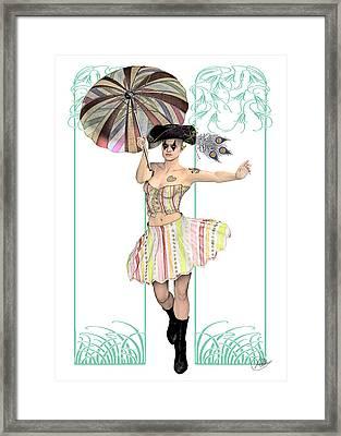 Columbine Pirate Girl Framed Print by Quim Abella