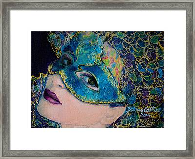 Colombina's Sight Framed Print by Dorina  Costras