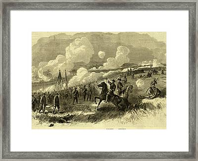 Colonel Burnsides Brigade At Bull Run, First And Second Framed Print