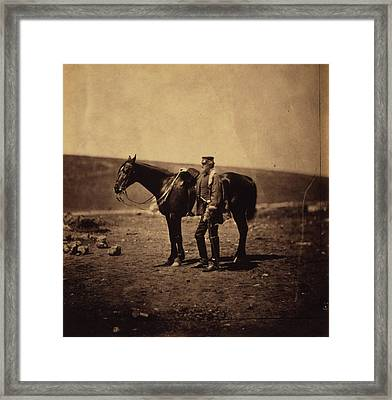 Colonel Dickson, Royal Engineers, Crimean War Framed Print