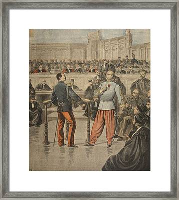 Colonel Henry And Lieutenant-colonel Framed Print by Henri Meyer
