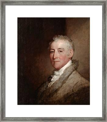 Colonel John Trumbull, 1818 Oil On Wood Panel Framed Print by Gilbert Stuart
