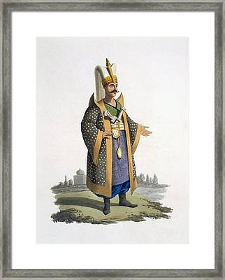Colonel Of The Janissaries With Jewels Framed Print by English School