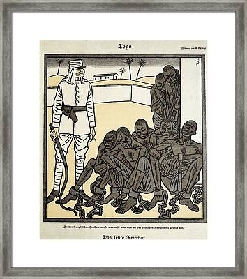 Colonial Africa. Critique Of Supposed Framed Print