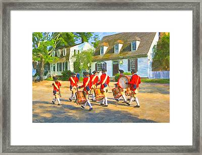 Colonial American Marching Band Framed Print