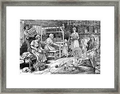 Colonial Cloth Makers Framed Print by Granger