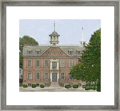 Colonial Court House Newport Rhode Island Framed Print by Diane E Berry