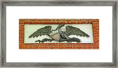 Colonial Federal Eagle Framed Print by Barbara McDevitt