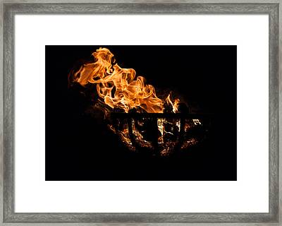 Fire Cresset Two Framed Print