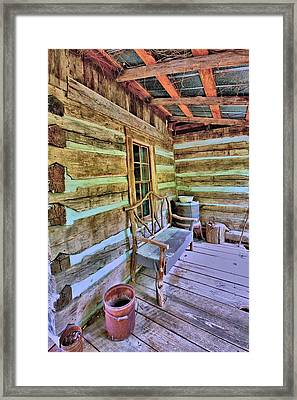 Colonial Front Porch Basics Framed Print by Gordon Elwell
