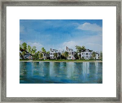 Colonial Lake In Charleston  Framed Print