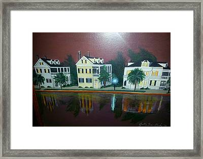Colonial Lake View Framed Print