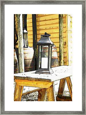 Colonial Light Framed Print