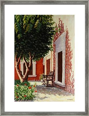 Colonial Patil,peru Impression Framed Print