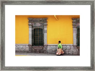 Colonial Puno Framed Print by James Brunker