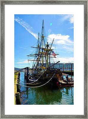 Colonial Ship Framed Print