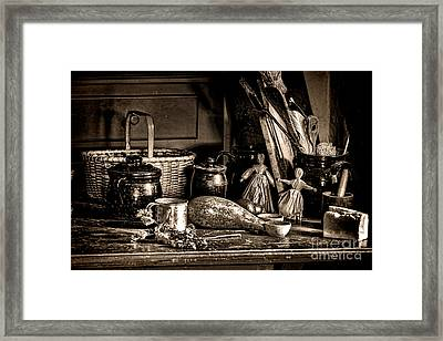 Colonial Table Set Framed Print by Olivier Le Queinec