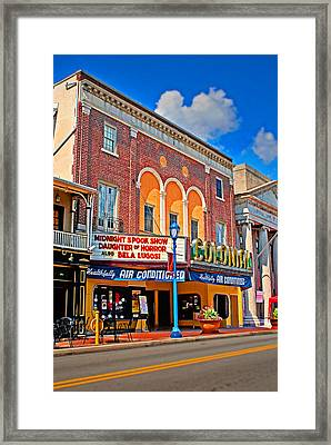 Colonial Theater Framed Print by Michael Porchik