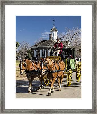 Colonial Transportation Framed Print by Gene Myers