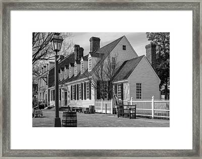 Framed Print featuring the photograph Colonial Williamsburg  by Trace Kittrell