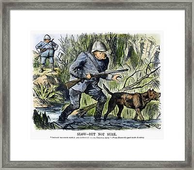 Colonialism Cartoon, 1889 Framed Print by Granger